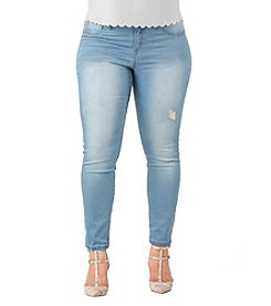 Standards & Practices Plus Size Hi Wire Skinny Jeans