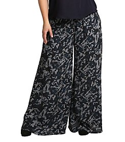 Standards & Practices Plus Size Patricia Camo Printed Palazzo Pants