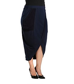 Standards & Practices Plus Size Phoebe Cross Over Skirt