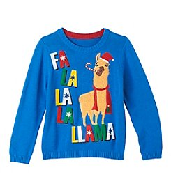 33 Degrees Boys' 8-20 Fa La La La Llama Sweater