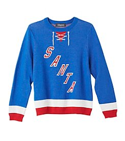 33 Degrees Boys' 8-20 Santa Hockey Sweater