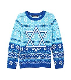 33 Degrees Boys' 8-20 Star Of David Sweater