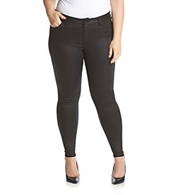 Celebrity Pink Plus Size Coated Mid Rise Skinny Jeans