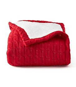 LivingQuarters Sherpa Sweater Throw