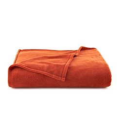 LivingQuarters Orange Micro Cozy Blanket