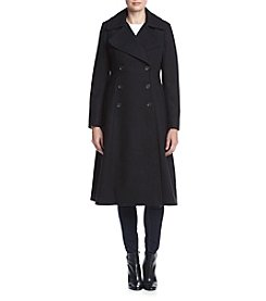French Connection Long Military Peacoat