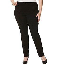 Rafaella® Plus Size Soild Power Stretch Pants