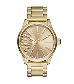 Diesel Goldtone Rasp Watch