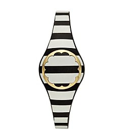 kate spade new york® Black And Cream Striped Scallop Activity Tracker