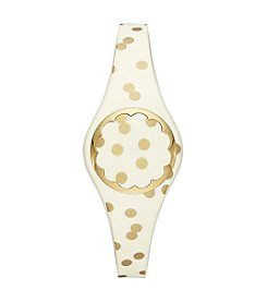 kate spade new york® Cream And Gold Dot Scallop Activity Tracker