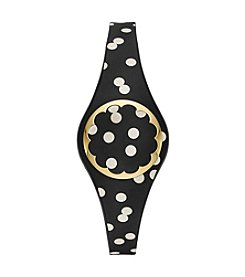 kate spade new york® Cream And Black Dot Scallop Activity Tracker