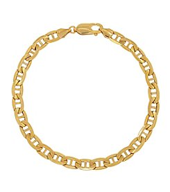 10K Yellow Gold Anchor Link Bracelet