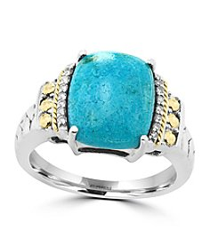 Effy® 925 Collection Turquoise Ring In Sterling Silver