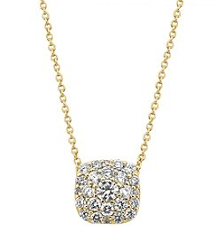 Effy® D'oro Collection 0.50 Ct. T.W. Diamond Pendant In 14K Yellow Gold