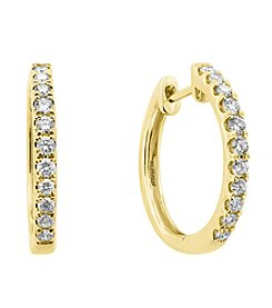 Effy® 0.50 Ct. T.W. Diamond Earrings In 14K Yellow Gold