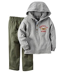 Carter's® Baby Boys 2-Piece Hoodie And Pants Set