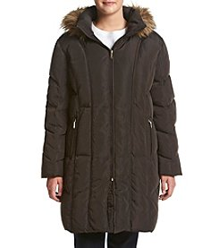 Calvin Klein Plus Size Vertical Seamed Down Jacket