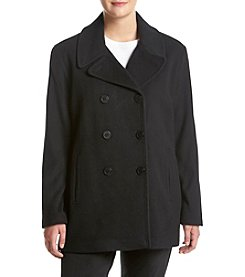 Calvin Klein Plus Size Notch Collar Peacoat