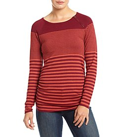 It's Our Time® Long Sleeve Striped Ruched Boatneck Sweater
