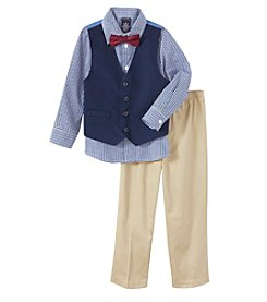 Nautica Boys' 2T-7 3 Piece Vest Set with Tie
