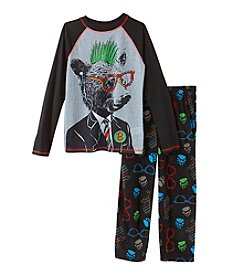 Komar Kids® Boys' 4-16 2-Piece Nerdy Bear Pajama Set