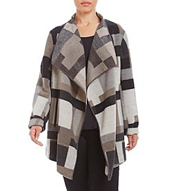 French Connection Plus Size Open Wrap Jacket