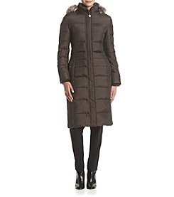 Anne Klein® Quilted Maxi Down Jacket