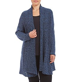 Studio Works® Plus Size Marled Fan Tail Cardigan