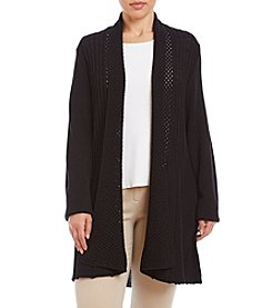 Studio Works® Plus Size Solid Fan Tail Cardigan