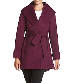 Trina Turk® Fit And Flare Wrap Coat