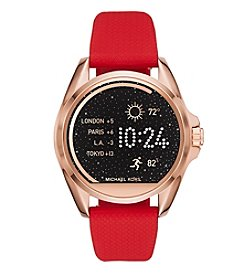 Michael Kors® 45mm Access Bradshaw with Red Silicone Strap