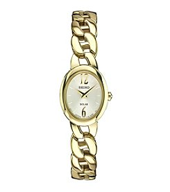 Seiko® Women's Solar Goldtone Watch With Champagne Dial