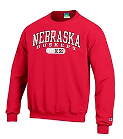 Champion® NCAA® Nebraska Cornhuskers Men's Team Crew Neck Sweatshirt