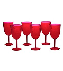 Certified International Set of 6 All Purpose Ruby Goblets