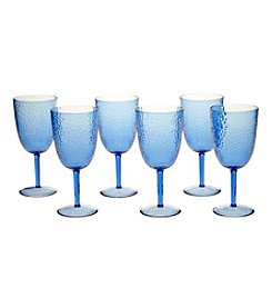 Certified International Set of 6 All Purpose Cobalt Blue Goblets