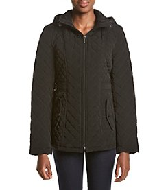 Gallery® Petites' Diamond Quilted Jacket