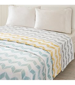 Intelligent Design Chevron Plush Brushed Blanket