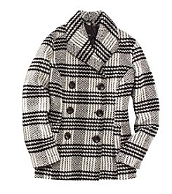 Rampage® Carrie Classic Plaid Peacoat