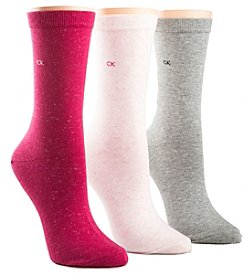 Calvin Klein 3-Pack Red Sparkle Crew Socks