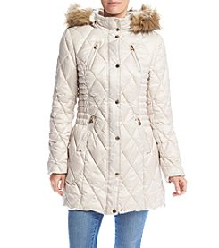 Laundry® Petites' Diamond Quilted Puffer Jacket