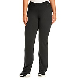 Calvin Klein Performance Plus Size Solid Color Straight Leg Pants
