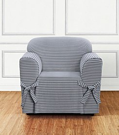 Sure Fit® Horizontal Club Stripe Furniture Cover