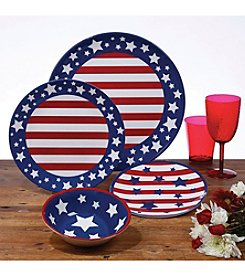 Certified International Stars & Stripes Dinnerware Collection