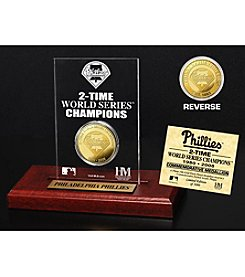 MLB® Philadelphia Phillies World Series Champions Gold Coin Etched Acrylic