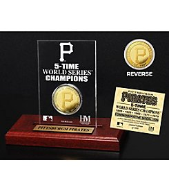 MLB® Pittsburgh Pirates World Series Champions Gold Coin Etched Acrylic