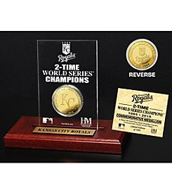 MLB® Kansas City Royals World Series Champions Gold Coin Etched Acrylic