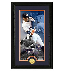 MLB® Houston Astros George Springer Supreme Bronze Coin Photo Mint
