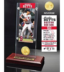 MLB® Boston Red Sox Mookie Betts Ticket and Bronze Coin Acrylic Desktop