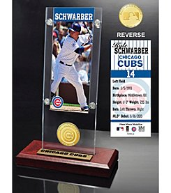 Highland Mint MLB® Chicago Cubs Kyle Schwarber Ticket and Bronze Coin Acrylic Desktop