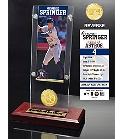 MLB® Houston Astros George Springer Ticket and Bronze Coin Acrylic Desktop